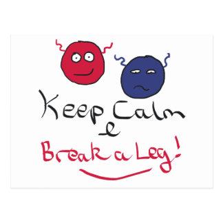 Keep Calm Acting Postcard