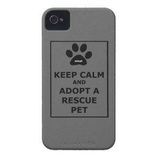 Keep Calm Adopt a Rescue Pet Blackberry Cases