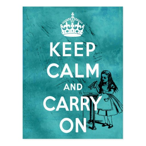 Keep Calm Alice Postcard