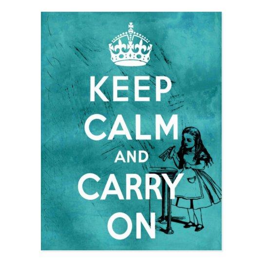 Keep Calm Alice Postcard