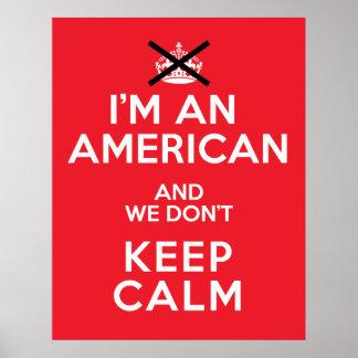 Keep Calm American version Poster