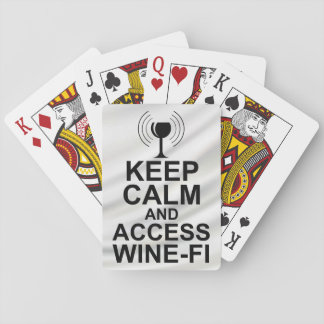 Keep Calm and Access Wine-Fi Playing Cards