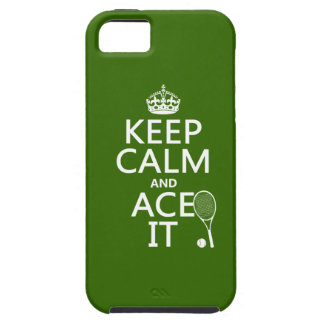 Keep Calm and Ace It (tennis) (in any color) iPhone 5 Case