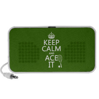 Keep Calm and Ace It (tennis) (in any color) Laptop Speaker