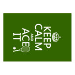 Keep Calm and Ace It (tennis) (in any colour) Business Card