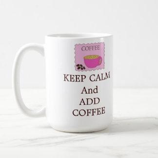 Keep Calm and Add Basic White Mug