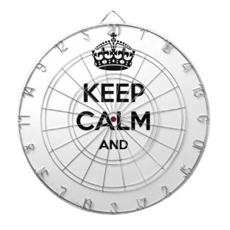 Keep calm and ... add your own text here! dartboard