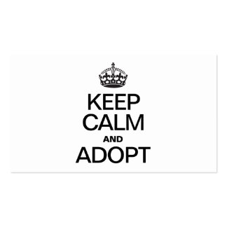 KEEP CALM AND ADOPT BUSINESS CARDS