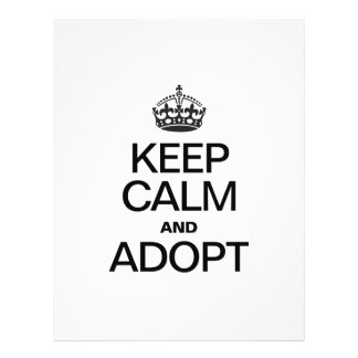 KEEP CALM AND ADOPT CUSTOM FLYER