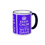 Keep Calm And Agree With Dave ~ U.K Politics Ringer Mug