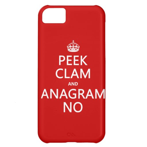 Keep Calm and Anagram On (in any color) iPhone 5C Cover