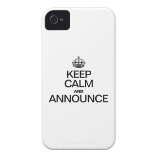 KEEP CALM AND ANNOUNCE iPhone 4 CASES