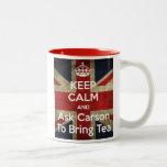 Keep Calm and Ask for Tea Two-Tone Mug