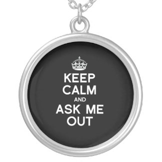 KEEP CALM AND ASK ME OUT - WHITE - png Jewelry