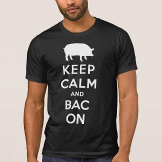 Keep calm and bacon tshirts