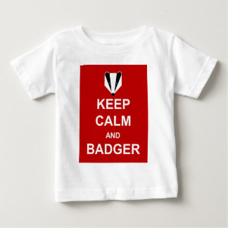 KEEP CALM AND BADGER BABY T-Shirt
