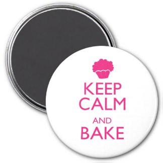 KEEP CALM AND BAKE 7.5 CM ROUND MAGNET