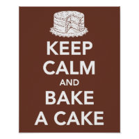 Keep calm and bake a cake