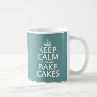 Keep Calm and Bake Cakes Coffee Mug
