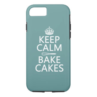 Keep Calm and Bake Cakes ( color) iPhone 7 Case