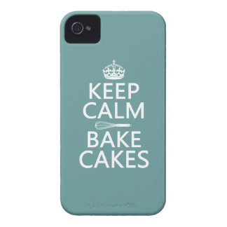 Keep Calm and Bake Cakes iPhone 4 Case
