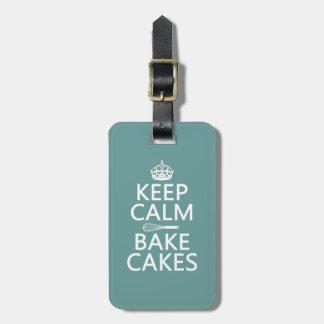 Keep Calm and Bake Cakes Luggage Tag