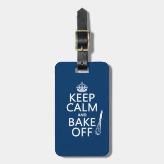 Keep Calm and Bake Off Luggage Tag