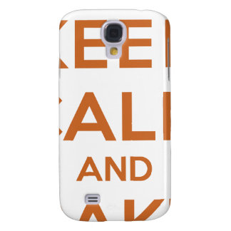 Keep Calm and Bake On Galaxy S4 Cover