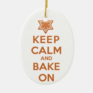 Keep Calm and Bake On Christmas Ornament