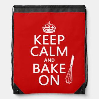 Keep Calm and Bake On Cinch Bag