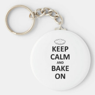 Keep calm and bake on key ring