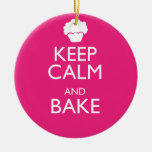 KEEP CALM AND BAKE ORNAMENT
