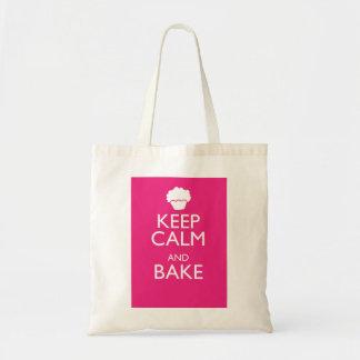 KEEP CALM AND BAKE TOTE BAG