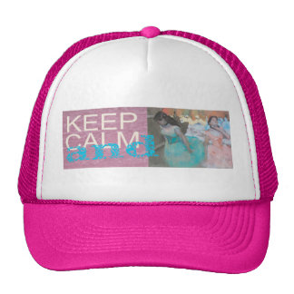 Keep Calm and Ballet On Unique Gift Print Cap