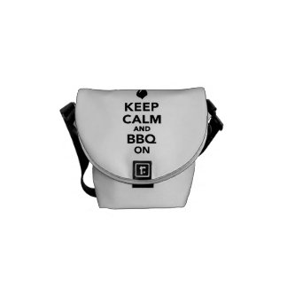 Keep calm and BBQ Grill on Messenger Bags