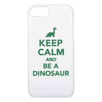 Keep calm and be a dinosaur iPhone 7 case