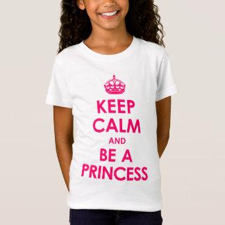 Keep Calm and Be a Princess Girls T-Shirt