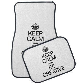 KEEP CALM AND BE CREATIVE CAR MAT