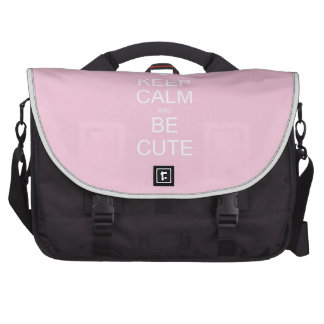 keep calm and be cute commuter bags