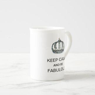 """KEEP CALM AND BE FABULOUS"" TEA CUP"