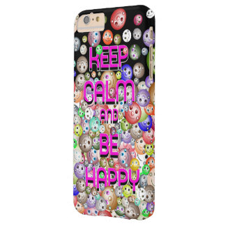 Keep Calm And Be Happy Colorful Smileys Barely There iPhone 6 Plus Case