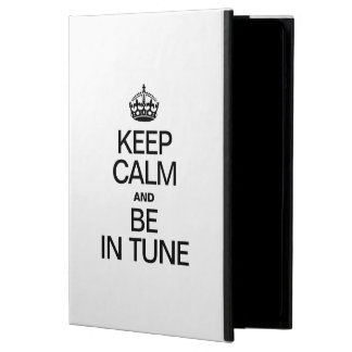KEEP CALM AND BE IN TUNE iPad AIR COVERS