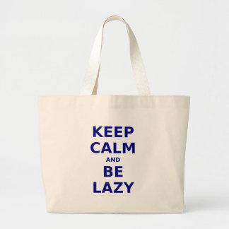 Keep Calm and Be Lazy Canvas Bag