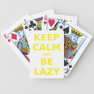 Keep Calm and Be Lazy Card Deck
