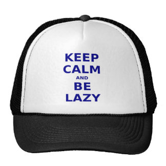 Keep Calm and Be Lazy Mesh Hat