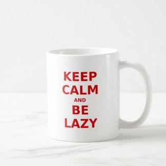 Keep Calm and Be Lazy Mug
