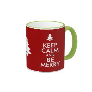 KEEP CALM and BE MERRY Ringer Mug