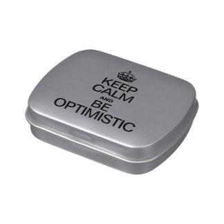 KEEP CALM AND BE OPTIMISTIC JELLY BELLY CANDY TINS