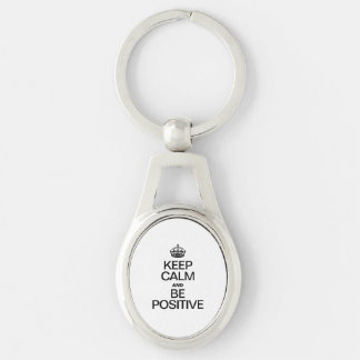 KEEP CALM AND BE POSITIVE KEY CHAIN