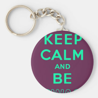 Keep Calm and Be Swag Sunglasses slogan Basic Round Button Key Ring
